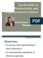 The Leadership FOR Productivity and Organisational Culture [Compatibility Mode]