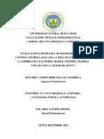 Mejoramiento proceso productivo interno sanchez campoverde