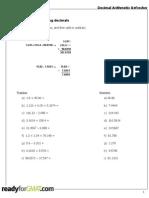 GMAT DecimalArtithmeticRefresher