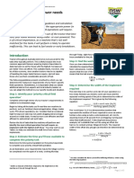 Efficient Farm Vehicles - Estimating tractor power needs