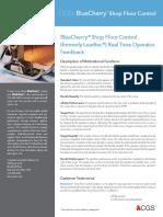 BlueCherry Data Sheet- BlueCherry Shop Floor Control - Real-Time Operator Feedback