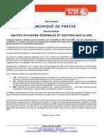 2020-11-03-Communique Ffbb-Decisions Bf-hautes Divisions Federales Et Soutien Aux Clubs