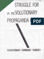 RCT, The Struggle for a Revolutionary Propaganda Group, October 1977
