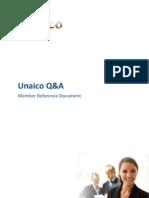 Unaico Q&A Member reference Document - Members Gulde 20110112 EN