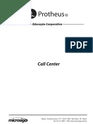 Apostila Microsiga Call Center P10 Centro De Atendimento