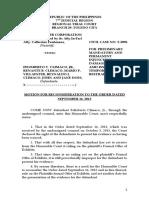 motion for reconsideration carmen copper offer