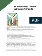 70 Razões Porque Não Cremos na Doutrina da Trindade