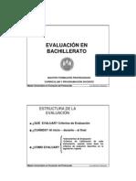 evaluacion en la programacion - bachillerato