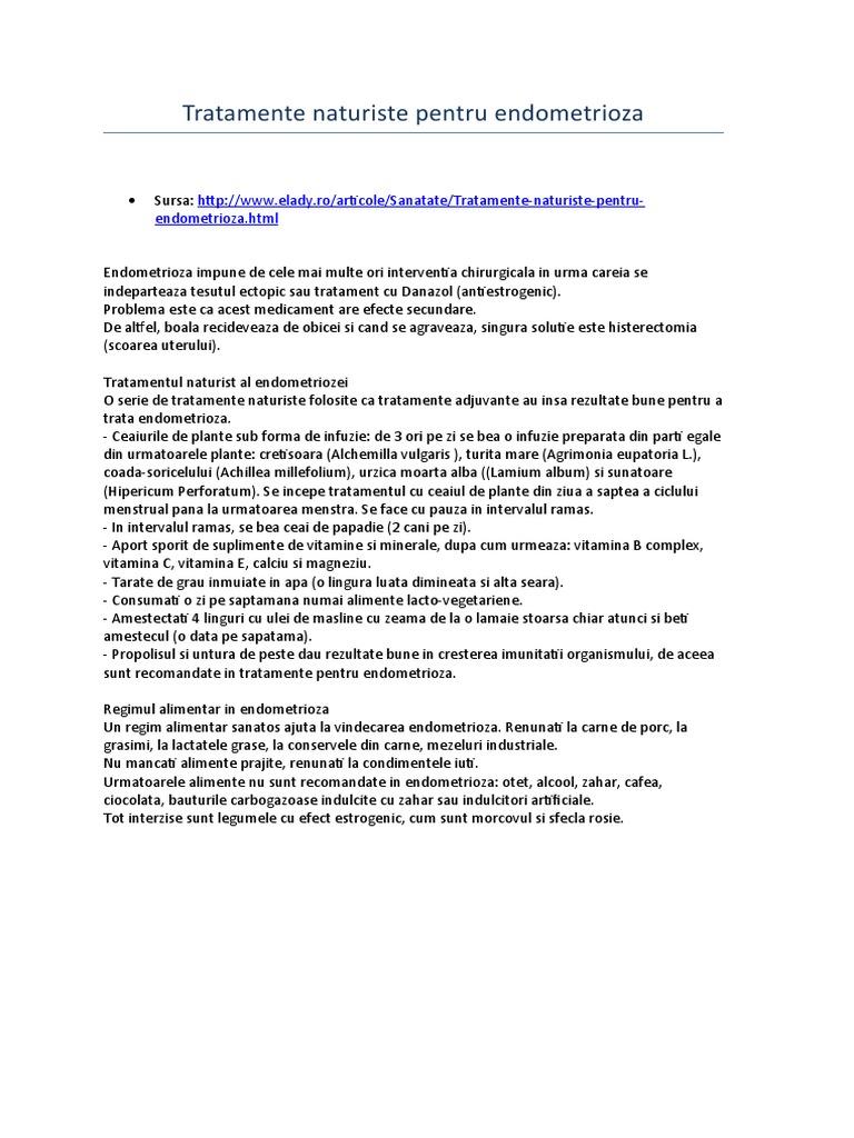 tratamentul de endometrioză varicoză)