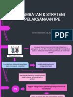 Hambatan dan strategi IPE