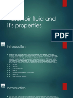 RESERVOIR FLUID AND ITS PROPERTIES