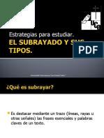 EL SUBRAYADO Y SUS TIPOS Corregida