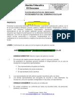 MANUAL DE PROCEDIMIENTOS DEL GOBIERNO ESCOLAR
