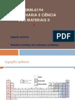 Aula 3 Ligação química e Estrutura cristalina de óxidos