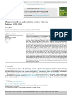 Changes in land use and ecosystem services values in Pakistan, 1950–2050
