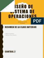 Diseño de Sistema de Operaciones - Clase 7