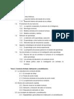 Indice_Domjan Psicología del aprendizaje