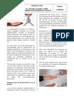 11-09-2020 - El Uso del Alcohol como Desinfectante Frente al Covid-19