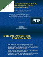 Fungsi Was DPRD - Tindak Lanjut Hasil Pemeriksaan BPK-Ondo Riyani