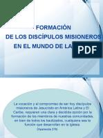 2. FORMACION DE LOS DISCIPULOS MISIONEROS