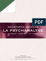 Moustapha Safouan - 2013. Psihanaliza. Știință, Terapie - și Cauză - fr