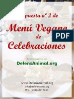 Propuesta menú vegano para celebraciones 2