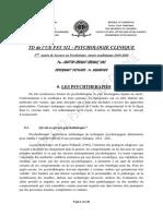 PSY 312 TD psychologie clinique (psychothérapies)