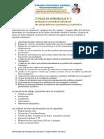 Actividad de Aprendizaje N° 3 - Cuestionario sobre el planteamiento del problema