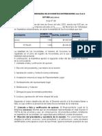 ASAMBLEA EXTRAORDINARIA DE ACCIONISTAS CAMBIO DE REPRESENTANTE LEGAL