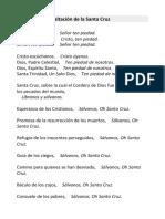 LETANIAS DE LA EXALTACIÓN DE LA SANTA CRUZ