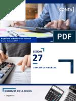 Sesión 27 - Función de Finanzas