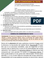 EJEMPLO DE COMENTARIO DE TEXTO. Tema 1