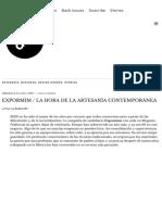 EXPORMIM _ LA HORA DE LA ARTESANÍA CONTEMPORÁNEA – DXI magazine