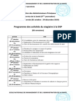 programme stage DSP-EHS