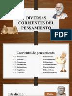 DIVERSAS CORRIENTES DEL PENSAMIENTO