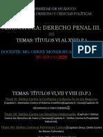 SESIÓN DE CLASES Nº1.DERECHO PENAL III (B).