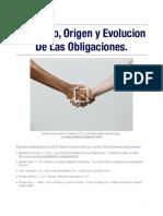 Conceptos, origen y evolución de las obligaciones