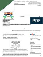 ¿Qué Es El Conector Dlc Obd II y Cuál Es Su Función_ - Ingeniería y Mecánica Automotriz