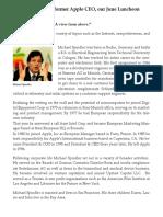 Former Apple CEO Michael Spindler