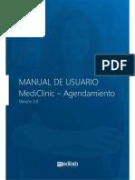 Manual de Usuario MediClinic - Agendamiento V1.0 ESP