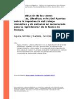 1. Aguila, Nicolas y Laterra, Patricia (2013). La redistribucion de las tareas domesticas, Realidad o ficcionz Aportes sobre la importancia (..)