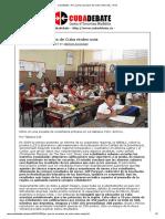 Cubadebate » Por qué los escolares de Cuba rinden más » Print