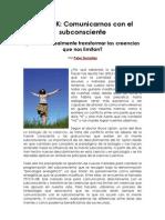 PSYCH-K, COMUNICARNOS CON EL SUBCONSCIENTE. Articulo Namasté