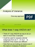 1-Way Analysis of Variance