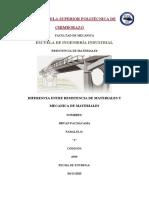 RESISTENCIA DE MATERIALES Y MECANICA DE MATERIALES