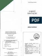 Texto 6 BRANDÃO O que é educação.pdf