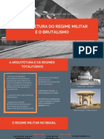A ARQUITETURA DO REGIME MILITAR E O BRUTALISMO