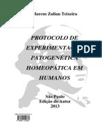 Protocolo de Experimentação Patogenética Homeopática em Humanos - Dr. Marcus Zulian Teixeira