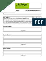 Energy Sources Presentation Assessment PDF