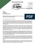 Bainbridge Township press release regarding Geauga Lake District